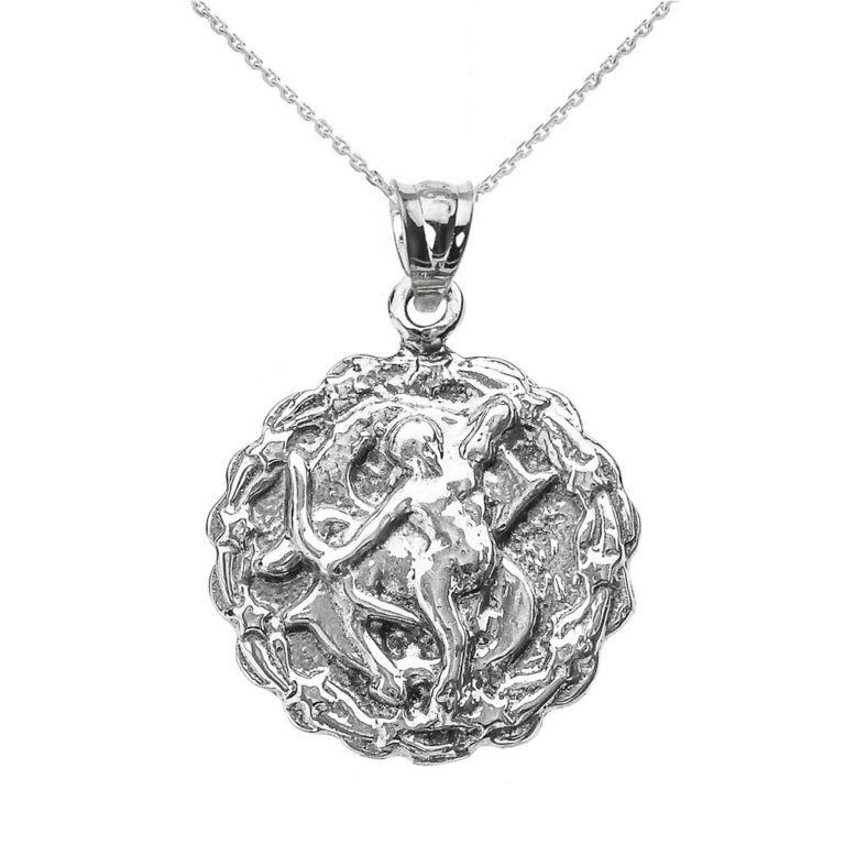 Sagittarius Zodiac Pendant Necklace in Sterling Silver