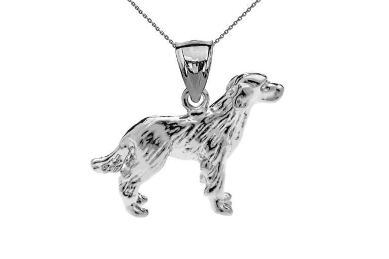 Labrador Pendant Necklace in Sterling Silver