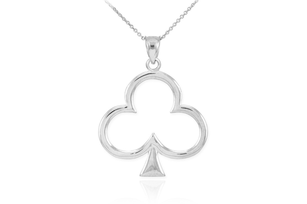 Clover Shamrock Pendant Necklace in Sterling Silver - St Patrick's Day Jewellery