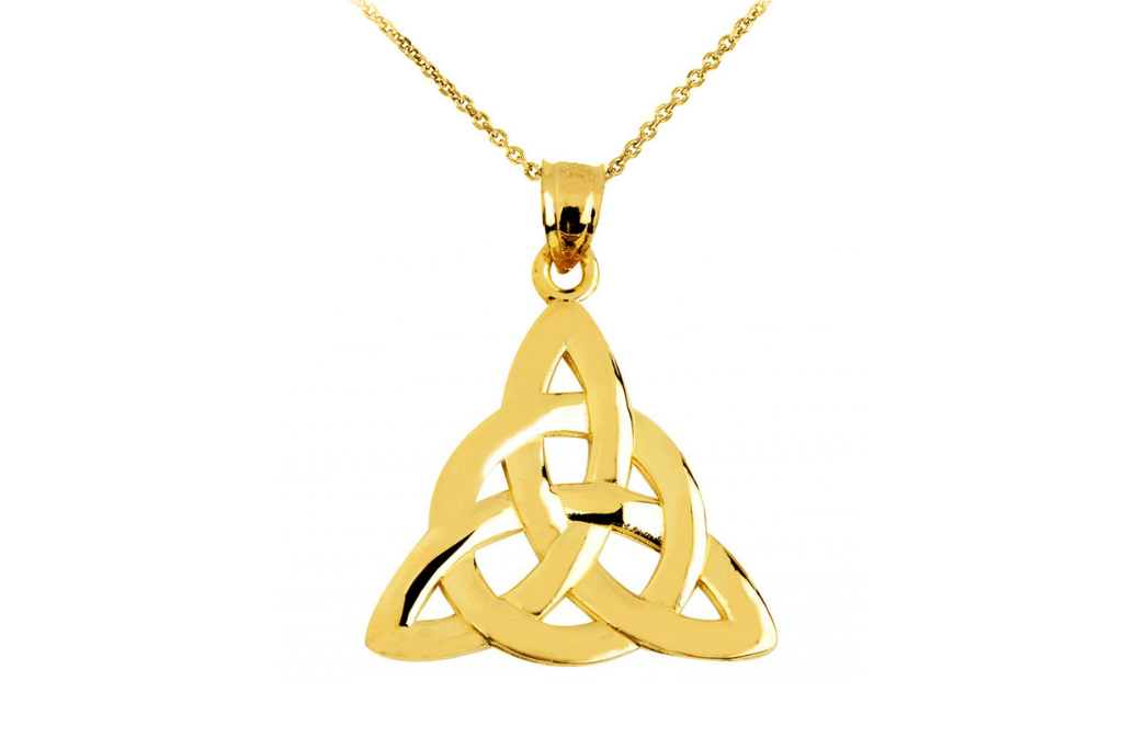 Trinity Knot Pendant Necklace in 9ct Gold - St Patrick's Day Jewellery