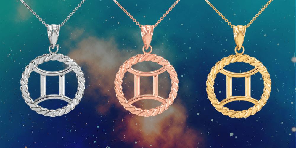 Gemini Pendant Necklaces by Gold Boutique