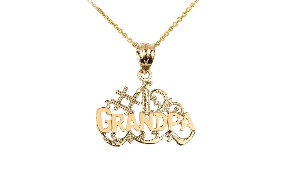 Grandpa Charm Pendant Necklace in 9ct Gold