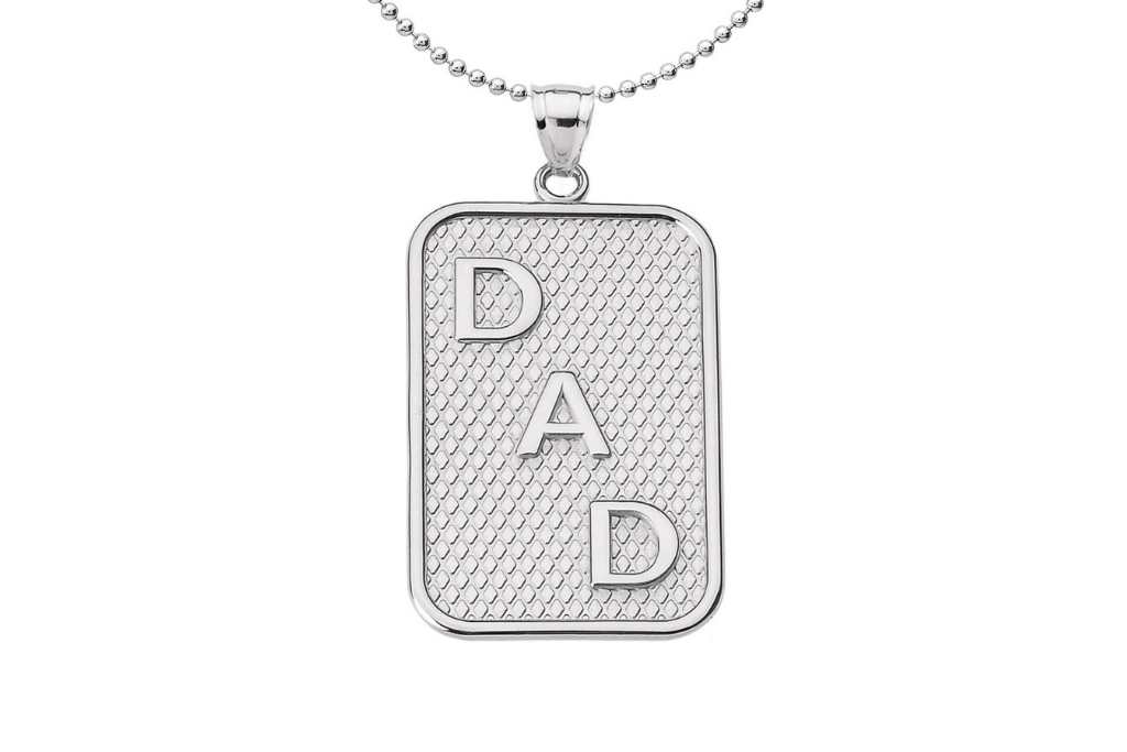 Best Father's Day Gifts - Dad Pendant Necklace in Sterling Silver