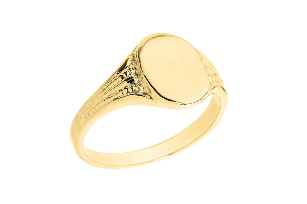 Best Father's Day Gifts - Men's Oval Signet Ring in 9ct Gold
